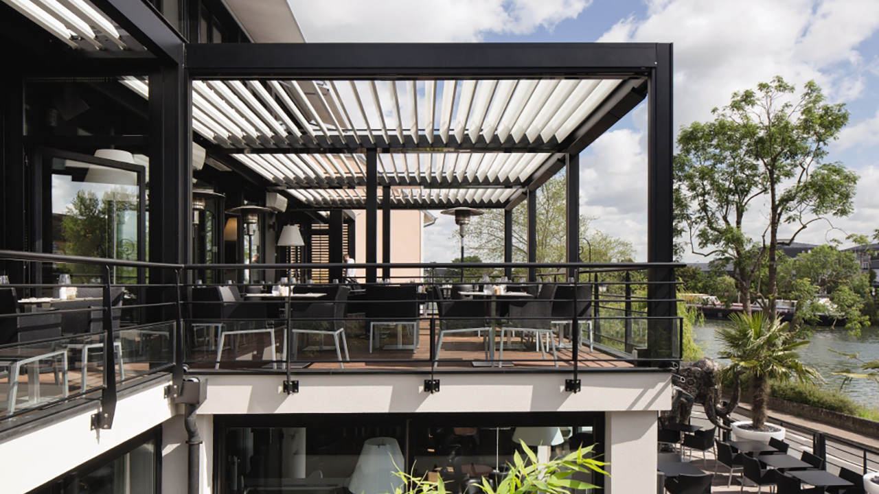 pergola renson camargue pergoly renson. Black Bedroom Furniture Sets. Home Design Ideas